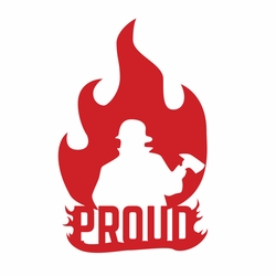 Firefighter: Proud Laser Die Cut