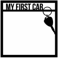 First Car 12 x 12 Overlay Laser Die Cut