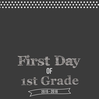 First Day Of School 12 x 12 Custom Paper