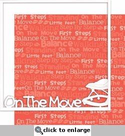 First: On The Move 12 x 12 Overlay Quick page Laser Die Cut