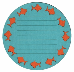 2SYT Fish Journal Block Laser Die Cut