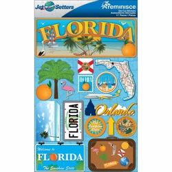 Florida Jet Setters Dimensional Stickers