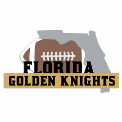 Florida Knights: Golden Knights Laser Die Cut