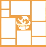 Florida Palm Tree 12 x 12 Overlay Laser Die Cut