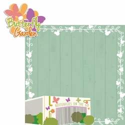 2SYT Flower and Garden: Butterfly Garden 2 Piece Laser Die Cut Kit