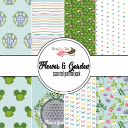 Flower & Garden Assorted 12 x 12 Paper Pack