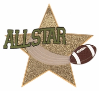 Football: All Star Laser Die Cut