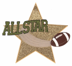 2SYT Football: All Star Laser Die Cut