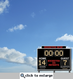 Football Fanatic: Custom Scoreboard 12 x 12 Paper