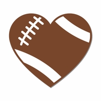 Football: Heart Laser Die Cut