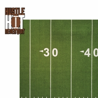 Football: Hustle Hit Never Quit 2 Piece Laser Die Cut Kit