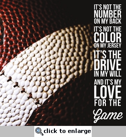 Football Love of the Game 12 x 12 Paper