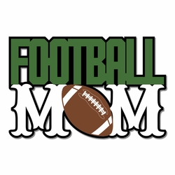 Football: Mom Laser Die Cut