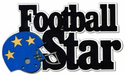 Football Star Laser Die Cut