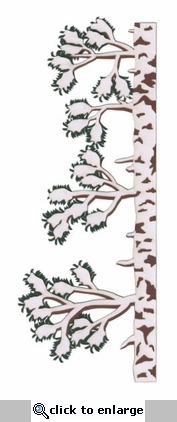 Forest Pine Tree With Snow Border Laser Die Cut