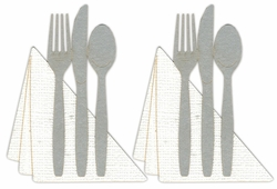 Fork, Knife and Spoon with Napkin Page Corner Laser Die Cut (2 pack)