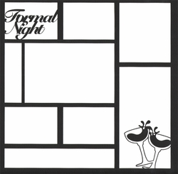 Formal Night 12 x 12 Overlay Laser Die Cut