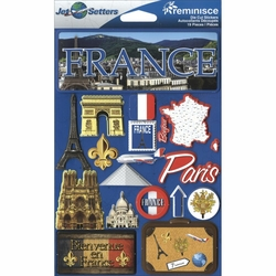 France Jet Setters Dimensional Stickers