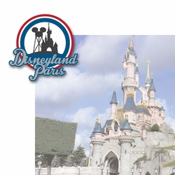 2SYT French Adventures: Disneyland Paris 2 Piece Laser Die Cut Kit