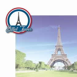 French Adventures: Eiffel Tower 2 Piece Laser Die Cut Kit