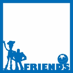 Friends 12 x 12 Overlay Laser Die Cut