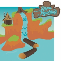 Frontier Land: Splash Mountain 2 Piece Laser Die Cut Kit