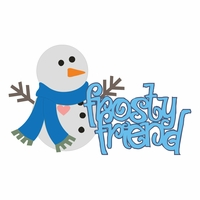 Frosty Fun: Frost Friend Snowman Laser Die Cut