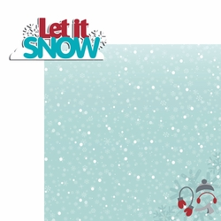 Frosty Fun: Let It Snow 2 Piece Laser Die Cut Kit