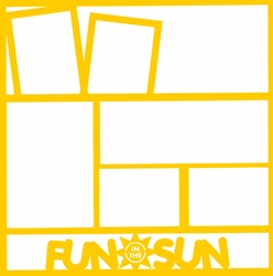 Fun In The Sun 12 x 12 Overlay Laser Die Cut