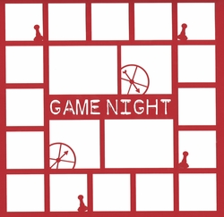 2SYT Game Night 12 x 12 Overlay Laser Die Cut