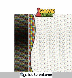 Game Night 2 Piece Laser Die Cut Kit