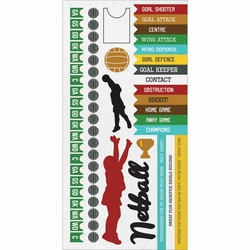 1SYT Game On:  Netball 6 x 12 Cardstock Sticker Sheet