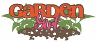 Garden Girl Laser Die Cut