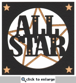 General Sports: All Star Laser Die Cut