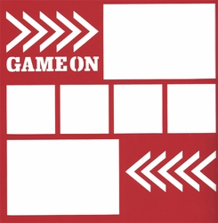2SYT General Sports: Game On 12 x 12 Overlay Laser Die Cut