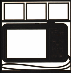 General Travel: Camera Photo Frame 12 x 12 Overlay Laser Die Cut