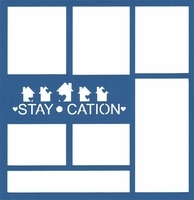 General Travel: Staycation 12 x 12 Overlay Laser Die Cut
