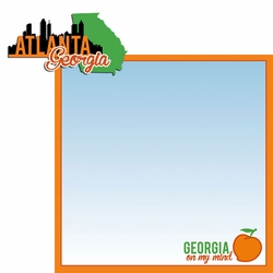 Georgia Travels: GA Atlanta  2 Piece Laser Die Cut Kit