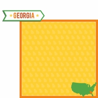 Georgia Travels: GA Label  2 Piece Laser Die Cut Kit