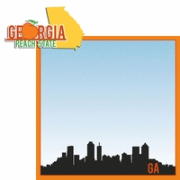 Georgia Travels: GA Peach State  2 Piece Laser Die Cut Kit