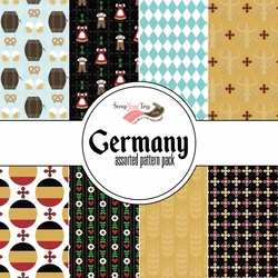 Germany 2 Assorted 12 x 12 Paper Pack
