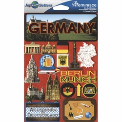 Germany Jet Setters Dimensional Stickers