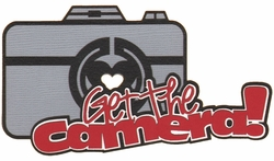 Get The Camera Laser Die Cut