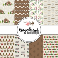 Gingerbread: Assorted 12 x 12 Paper Pack