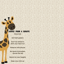 2SYT Giraffe: Advice From 12 x 12 Paper