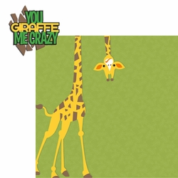 Giraffe: Giraffe Me Crazy 2 Piece Laser Die Cut Kit
