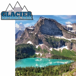 Glacier National Park 2 Piece Laser Die Cut Kit