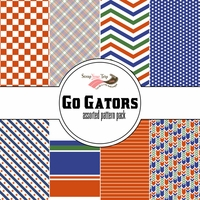 Go Gators Assorted 12 x 12 Paper Pack