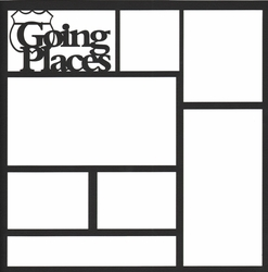 2SYT Going Places 12 x 12 Overlay Laser Die Cut
