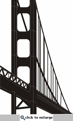 Golden Gate Bridge Border Laser Die Cut